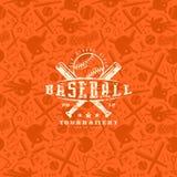 Modelo y emblema inconsútiles del béisbol ilustración del vector