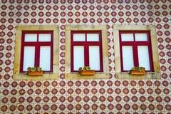 Modelo y ventanas de mosaico Fotografía de archivo