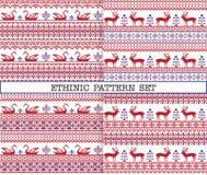 Modelos étnicos del emproidery con los ciervos y los gansos Libre Illustration