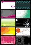 Modelos 7 de las tarjetas de visita Imagen de archivo libre de regalías