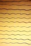 Modelos amarillos de paredes con las curvas imagen de archivo libre de regalías