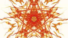 Modelos anaranjados del fractal en el fondo blanco, vídeo vivo del fractal, mandala para la energía que obtiene, piezas de rotaci libre illustration