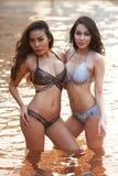 Modelos asiáticos del bikini Imagen de archivo