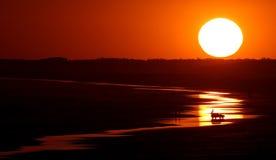 Modelos asombrosos de la puesta del sol Imagen de archivo libre de regalías