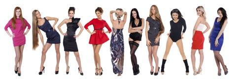 10 modelos atractivos Imagenes de archivo