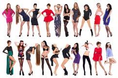 20 modelos atractivos Imagen de archivo libre de regalías