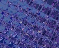 Modelos azules púrpuras Imagen de archivo libre de regalías