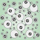 Modelos bajo la forma de esferas imagenes de archivo