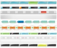 Modelos brillantes 3 del Web del vector