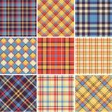Modelos brillantes de la tela escocesa Imagenes de archivo