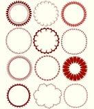 Modelos circulares Imágenes de archivo libres de regalías