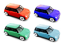 Modelos coloridos da miniatura do carro do brinquedo Foto de Stock