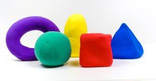 Modelos coloridos de la arcilla imagenes de archivo