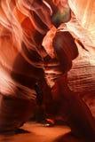 Modelos coloridos del antílope de la piedra arenisca de Navajo Fotografía de archivo libre de regalías