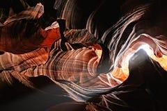 Modelos coloridos del antílope de la piedra arenisca de Navajo Imagenes de archivo