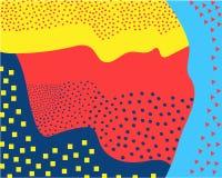 Modelos creativos líquidos del extracto con las ondas lineares dinámicas mapas, un sistema de cubiertas del color stock de ilustración
