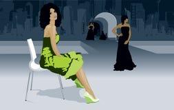 Modelos da semana da forma na passarela Imagem de Stock
