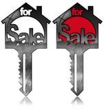 Modelos das casas com chaves - para a venda Imagem de Stock