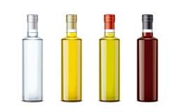 Modelos das garrafas para o óleo e os outros alimentos Foto de Stock