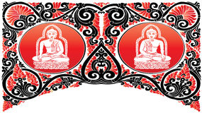 Modelos de Buda del vector Imagenes de archivo
