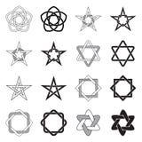 Modelos de estrellas de los nudos del Celtic fijados ilustración del vector