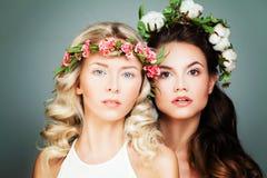 Modelos de forma bonitos das mulheres Imagem de Stock Royalty Free
