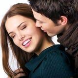 Modelos de forma como pares no foreplay fotografia de stock