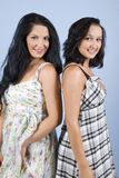 Modelos de forma da beleza no vestido do verão Imagem de Stock