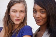 Modelos de forma Karlie Kloss e Jourdan Dunn Imagem de Stock