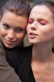 Modelos de forma Laura Blokhina e retrato de Egle Tvirbutaite Imagens de Stock
