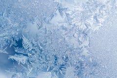 Modelos de Frost en ventana Imagen de archivo