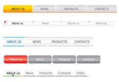 Modelos de la barra de navegación Imagen de archivo