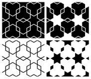 Modelos de la estrella y del hexágono fotografía de archivo