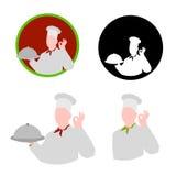 Modelos de la insignia del restaurante del cocinero ilustración del vector