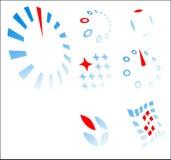 Modelos de la insignia - emplear del concepto diferencia Stock de ilustración