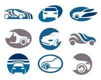 Modelos de la insignia y del emblema del coche Imagen de archivo libre de regalías