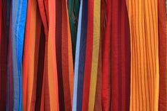 Modelos de la materia textil Fotos de archivo