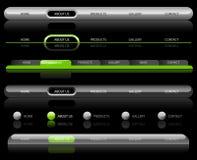 Modelos de la navegación del Web site Imagen de archivo libre de regalías
