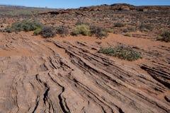 Modelos de la roca en el desierto en la curva de herradura Fotografía de archivo libre de regalías