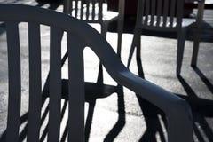Modelos de la sombra de la silla foto de archivo