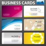 Modelos de la tarjeta de visita. Fotos de archivo libres de regalías