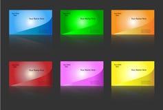 Modelos de la tarjeta de visita Imágenes de archivo libres de regalías
