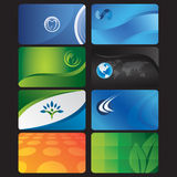 Modelos de la tarjeta de visita Imagen de archivo