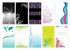 Modelos de la tarjeta de visita Foto de archivo libre de regalías