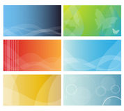 Modelos de la tarjeta de visita Imagenes de archivo