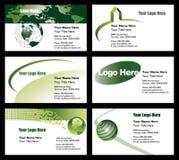 Modelos de la tarjeta de visita Imagen de archivo libre de regalías