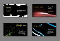 Modelos de la tarjeta de visita del vector Fotos de archivo