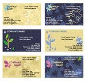 Modelos de la tarjeta de visita fijados Imagen de archivo libre de regalías