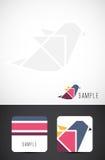 Modelos de la tarjeta del icono y de visita del pájaro del vector Fotos de archivo libres de regalías