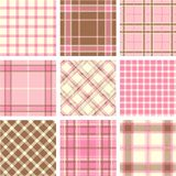 Modelos de la tela escocesa Imagen de archivo libre de regalías